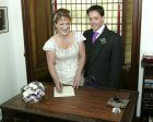 Catriona & Marcus signing the register